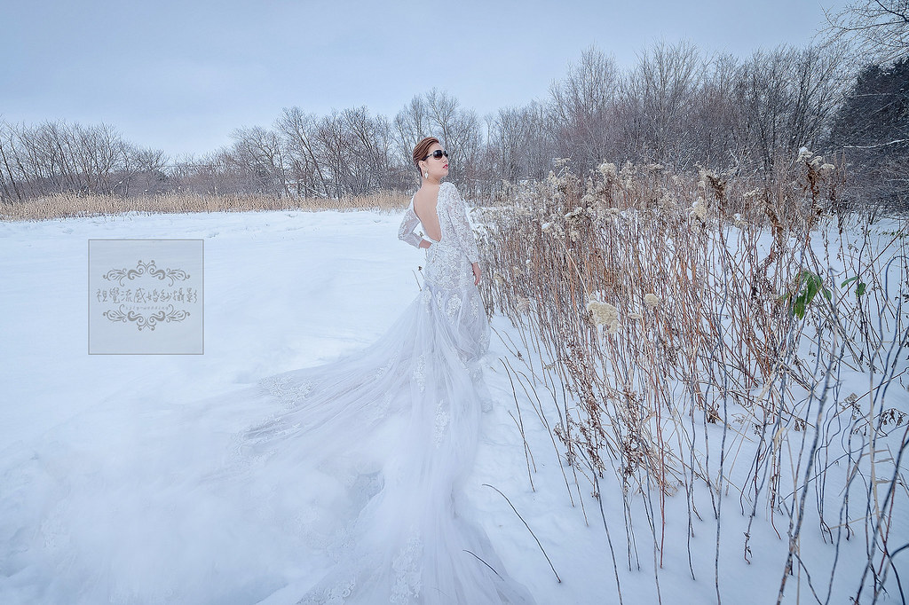 海外婚紗攝影,日本北海道美瑛,神樂神社,雪國雪地雪景婚紗