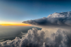 Slipping the Surly Bonds of Earth (tquist24) Tags: hdr nikon nikond5300 clouds horizon sky thunderstorm windowseat