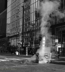 Steam in Manhattan (TMStorari) Tags: manhattan midtown vapour steam clouds grey blackandwhite blackandwhitephotography newyork nyc ilovenewyork bigapple viaggiare viaggi inexplore explore urban streetphotography streetsofnewyork travel travelphotography usa