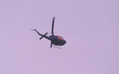 Berlin SXF Ila 2002 SAR Hubschrauber Bundeswehr (rieblinga) Tags: berlin schönefeld sxf flughafen ila 2002 sar hubschrauber rettungshubschrauber bundeswehr luftwaffe bell uh1d analog canon eos 1v kodak ebk 100 diafilm