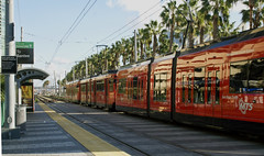Light Rail... (Sue on a bike) Tags: 365the2019edition 3652019 day6365 06jan19 sandiego california downtown trolley lightrail city