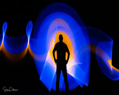New Super Hero? (Exhorseman) Tags: yeg light yegphotographer edmonton canada experimental lightpainting streaks lights night igyeg imagesofcanada weownthenightab weownthenight exploreedmonton mustbeedmonton lowlight colour longexposure abstract abstractlight pose paintingwithlight led ledlights nikon d750 painting motion man silhouette