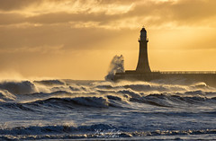 Wild Horses (robinta) Tags: sea seaandsand ocean waves water tide surf coast pier lighthouse architecture seascape england ngc canon uk sky dawn sunrise