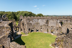 Restormel Castle (Keith in Exeter) Tags: castle keep ruins norman building architecture circular fort gateway grass tree woodland sky restormel lostwithiel cornwall
