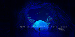 The Moon (Pristy-) Tags: moon blue themoon night stars cave portal dreamscape