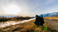 Getting the shot (JarrodLopiccolo) Tags: carsonvalley nevada sunrise winter morning photograher river carsonriver jobs peak clouds blue nature landscape