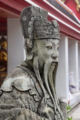 Warrior Guard, Wat Pho (Manoo Mistry) Tags: watpho buddhist buddha buddhism buddhisttemple bangkok thailand nikon nikond5500 tamron tamron18270mmzoomlens statue sculpture
