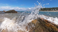 Collision (OzzRod) Tags: swash splash wave surge rocks sea 3mm35mmequiv15mmf28 hero7black gopro nswfarsouthcoast barraggabay