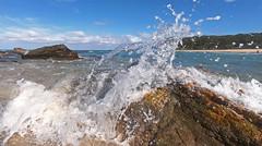 Collision (OzzRod) Tags: swash splash wave surge rocks sea 3mm35mmequiv15mmf28 hero7black gopro nswfarsouthcoast barraggabay