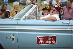 Old Wheels (radargeek) Tags: september 2018 mustangwesterndaysparade mustang oklahoma oldwheels clown shriners shriner vintage