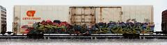 Steel/Kick (quiet-silence) Tags: graffiti graff freight fr8 train railroad railcar art steel kick msk seventhletter cryx cryo cryotrans insulated boxcar lambweston cryx3514