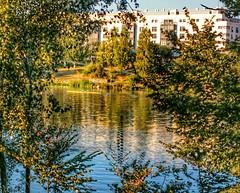 Una habitación con vistas. A room with a view (marisabosqued) Tags: reflejos reflections río river agua water ebro zaragoza aragón españa spain snapseed