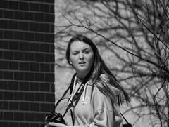 Street Photographer, 14/100X (clarkcg photography) Tags: woman camera canon streetphotographer streetphotography blackandwhite blackwhite bw candid 100xthe2019edition 100x2019 image14100