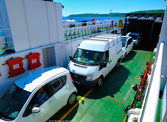 Scotland West Coast the car deck of the car ferry Loch Riddon 28 May 2018 by Anne MacKay (Anne MacKay images of interest & wonder) Tags: scotland west coast cars car caledonian macbrayne calmac ferry loch riddon 28 may 2018 picture by anne mackay