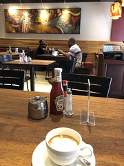Java House style (prondis_in_kenya) Tags: kenya nairobi colddryseason javahouse cafe restaurant pattern latteart mamanginastreet art