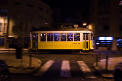 The Yellow Submarine (TeylorDelight) Tags: lisboa nightphotography photography street streetphotography agameofcolors way2ill train tram tracks trainstation