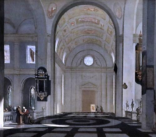 IMG_1027 Emmanuel de Witte. 1616-1692 Amsterdam Intérieur d'une église renaissance.  Interior of a Renaissance church. Schwerin.Staatliches Museum