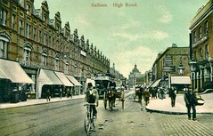 Balham High Road, London, circa 1905 (The Wright Archive) Tags: balham high road london postcard circa 1905 street scene people bicycle horseandcart tram dukeofdevonshire thedevonshire pub james fleming publican lostlondon londonhistory uk localhistory vintagepostcard social history oldlondon