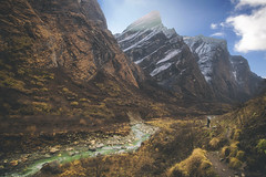 En route to Annapurna base camp (yan08865) Tags: himalayas nepal annapurna river valley asia mountains landscapes nature water stream hiking trekking pavlis earth rocks lakes photographers grass trails canon wide