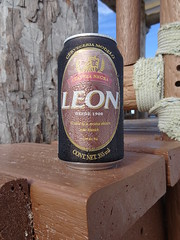 A Frosty Leon (knightbefore_99) Tags: mexico mexican mujeres island isla tropical cool best awesome beer cerveza can pivo tasty hops malt dark negra quintanaroo