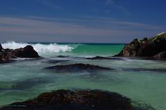 3KB08154a_C (Kernowfile) Tags: pentax cornwall cornish stives porthmeor beachskycloudbluerockswaterwavesbreaking waves spray foam