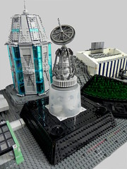 Communications Tower (Ty Stephany) Tags: lego moc creation spacejam 2019 2018 space moon base residential garage tower office ship