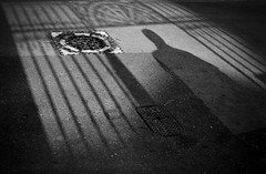 Gates (RoryO'Bryen) Tags: roryobryen rangefinder copyrightroryobryen cambridge rollo film kodaktrix standdeveloped shadows sombras blackandwhite blancoynegro biancoenero noiretblanc argentique 35mm 50mm summicron