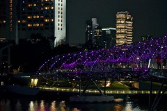 Singapore by Night, Marina Reservoir, Central Business District (Ginger H Robinson) Tags: singapore night lights cityscape skyscrapers urban marinareservoir centralbusinessdistrict thecity southeastasia water reflection color purple
