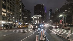 Flatiron TL 111718 UHD with music (Michael.Lee.Pics.NYC) Tags: newyork timelapse video night flatirondistrict fifthavenue esb empirestatebuilding porcelanosa pedestrians cars traffic broadway architecture cityscape pan panning sony a7rm2 voigtlanderheliar15mmf45 syrpgeniemini