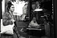 Reflections on Thailand (Bury Gardener) Tags: burystedmunds blackandwhite monochrome mono suffolk street streetphotography streetcandids snaps strangers candid candids people peoplewatching folks 2018 nikond7200 nikon england eastanglia uk britain cornhill