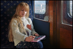 29th of December 2018 (Paul of Congleton) Tags: diary december 2018 katherine katie girl child childhood train coach carriage compartment preserved steam railway llangollen denbighshire wales cymru uk digital sony rx100