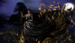 The Raven (Anja Mexicola) Tags: moonamore theepiphany glamaffair jinx waterhorse zibska raven art anjamexicola digital virtual secondlife fantasy ice crystals gacha drawing randomhangout ~wh~ridinghorse moon sky snow winter cosmos dress girl night shadow light brunette mask tattoo makeup gold golden silver shiny shimmer bright reflections fashion music röyksoppwhatelseisthere rnadommatter lelutka maitreya lara illustration expression abstract contemporary