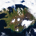 On August 22, 2014 the Moderate Resolution Imaging Spectroradiometer aboard NASA's Terra satellite captured a true-color image of a sunny summer day in Iceland. Original from NASA. Digitally enhanced by rawpixel.
