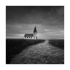 icelandic church (Nick green2012) Tags: square landscape silence blackandwhite church iceland minimal