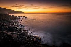 Purple PCH Mornings (JohnLazo19) Tags: 1635mm canon5dmarkiv coast longexposure morning pch pacificcoasthighway rocks sunrise water