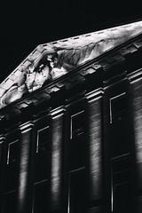 angels of power (Marco - MB Photography) Tags: angelsofpower cityhall stucco angelstatue oldbuilding leicamnono vm50 lit spot neuchatel mamuangsuk
