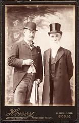 J.F.X. O'Brien, M.P. and Dr. Tanner, M.P. (National Library of Ireland on The Commons) Tags: irishpersonalitiesphotographiccollection nationallibraryofireland personalities ireland honey jfxobrien drtanner jfxobrienmp drtannermp tanner obrien cork 28grandparade grandparade munster williamghoney mps irishparliamentaryparty politicians bowler tophat hats cane