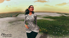 SEIS (Elena3681 FotografíaSL) Tags: elfa sl foto fotografia secondlife mujer chica dama linda bella hermosa guapa cielo tierra atardecer agua coleta frezz cesped
