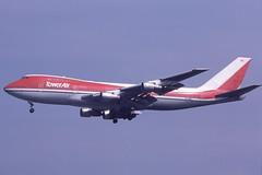 N747BA Gatwick 12-8-1984 (Plane Buddy) Tags: n747ba boeing 747 towerair lgw gatwick