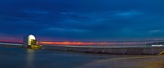 Ghost Sunrise Panorama (Sterling67) Tags: pumphouse sunrise mer ocean baths sea water 7d 2470 clouds panorama pano outside outdoor sand