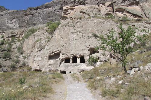 At the Vardzia cave monastery, 06.09.2013.