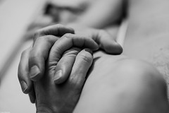 Together (Vagabundina) Tags: people person bw together couple love hands moment intimacy