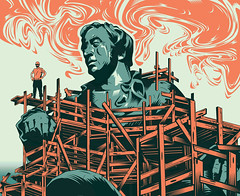 restorer (depingo.ru@gmail.com) Tags: restorer monument sculpture statue scaffolding sky heaven illustration