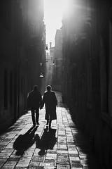 from venice with love (digital_underground) Tags: venice couple way street urban sunset sun ray shadow silhouette