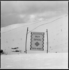 Three ways to tell one thing. (swedish silver) Tags: sierra nevada spain espania hasselblad 60mm cf carl zeiss snow skiing pista negra imacon ski analogue film 6x6 grain