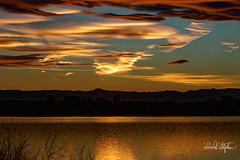 Sunset Over Cherry Creek Reservoir (dcstep) Tags: dsc5238dxo cherrycreekreservoir sunset lake reservoir clouds water red blue cherrycreekstatepark colorado usa aurora allrightsreserved copyright2018davidcstephens dxophotolab2 sonya9 fe100400mmf4556gmoss fe14xteleconverter handheld lenticular lenticularclouds