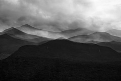 The Osceolas in 5 (SopheNic (DavidSenaPhoto)) Tags: impressionisticphotography xf55200 whitemountains mountosceola monochrome multipleexposure mountains bnw fuji bw xt2 blackandwhite fujifilm impressionism