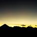 Dramatic sunset view of Guatemalan volcanoes