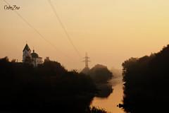 церковь у реки версия 2 (alehhubarevich) Tags: church morning sky belarus gomel sunrise river
