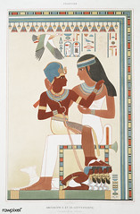 Amunof II and his governess from Histoire de l'art égyptien (1878) by Émile Prisse d'Avennes (1807-1879). Digitally enhanced by rawpixel. (Free Public Domain Illustrations by rawpixel) Tags: otherkeywords amunofii anillustrationoftheegyptian ancestry ancient ancientegyptian ancientegyptianart anqet antique archaeological archeology art artwork cc0 design designing drawing dynasty egypt egyptian egyptiankingdom egyptianmythology egyptology empire governess handdrawn histoiredelartégyptien historical history illustration kingdom mythology name old oldfashioned outlines outlinesfromtheantique painting pattern pharao psd sepia sketch story traditional vintage émileprissedavennes